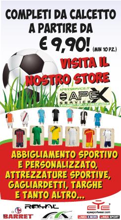 Visita il nostro Store in Via Luna e Sole 1 a Sassari - Scopri le promozioni sull'abbigliamento sportivo